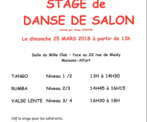 Stage de danse de salon