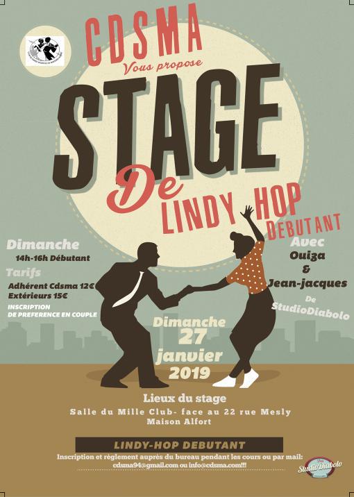 Stage de Lindy hop